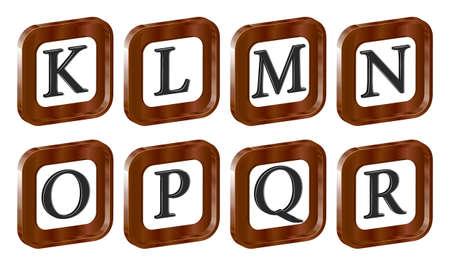 alphabet 3d letters eps10 Иллюстрация