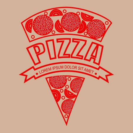 logo pizza red eps8