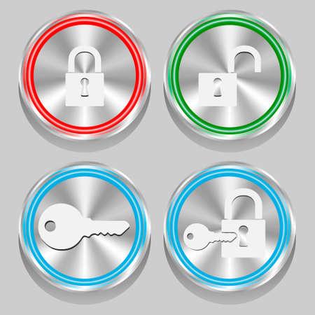 button key lock eps10 Illustration