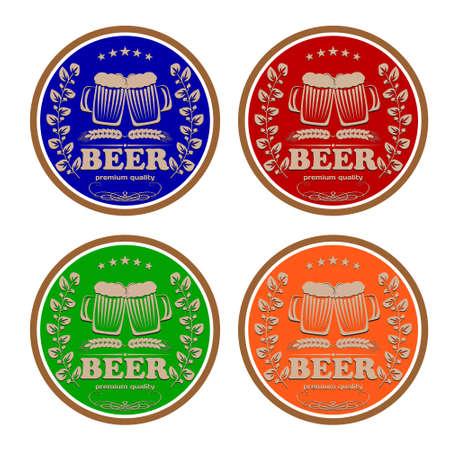 logo beer color eps8