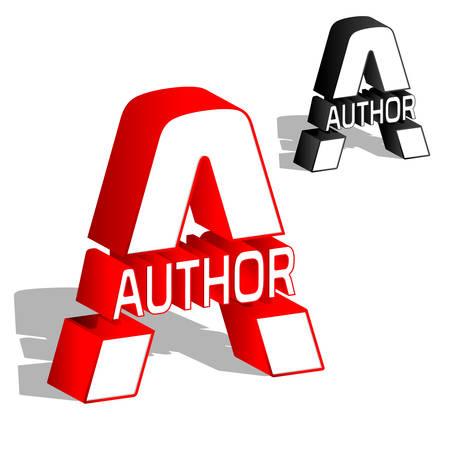 A author 3d letter