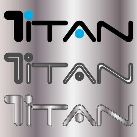 titan logo text eps10