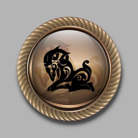zodiac sign astrology taurus eps10