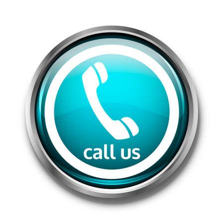 hotline: Button phone blue