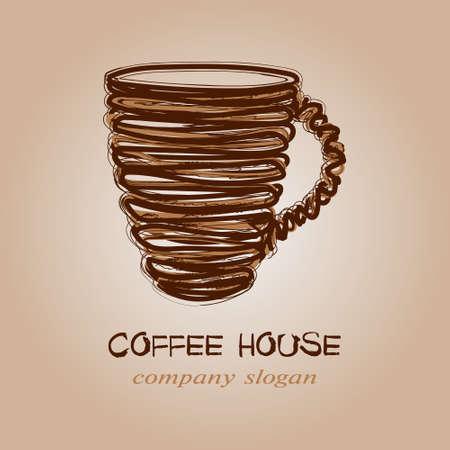 Coffee house emblem
