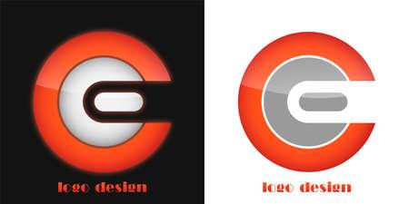 e business: logo design letter c e eps8