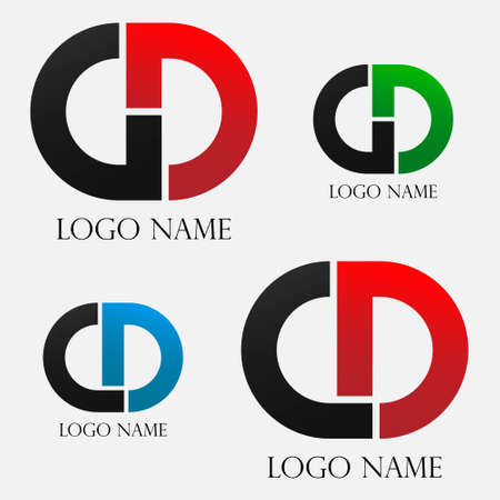 logo of CD and GD in circle design, eps8