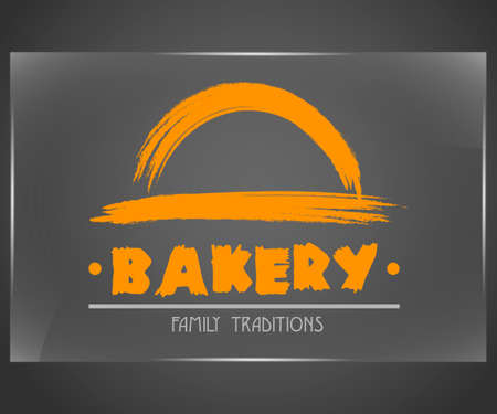 Bakery logo in brushstroke eps10