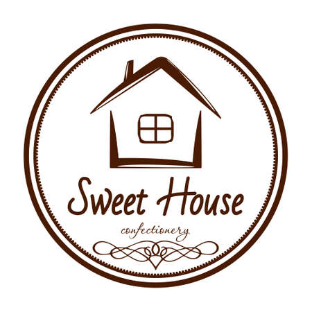 logo sweet house gingerbread confectionery factory eps8 Illusztráció