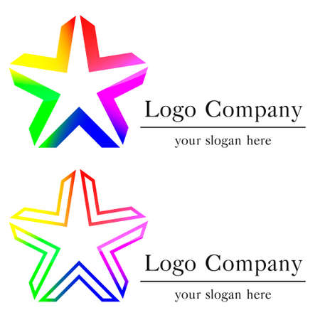 star logo company color design eps8