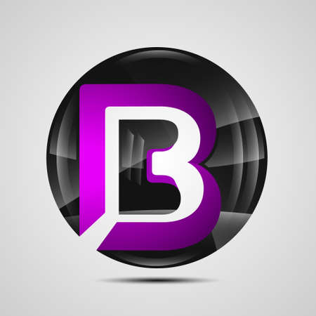 Company letter B ball icon.