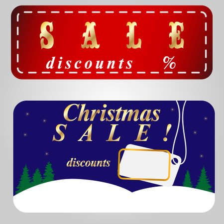 Christmas sale banner vectors