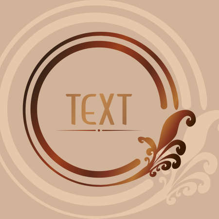Brown circular with space for text vector Illusztráció