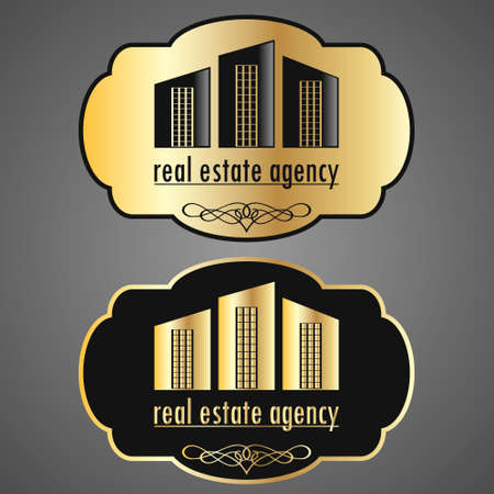 Real estate agency emblem design