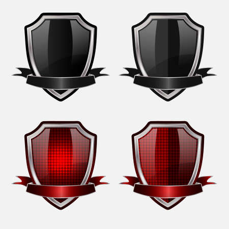 shield silver design icon eps10