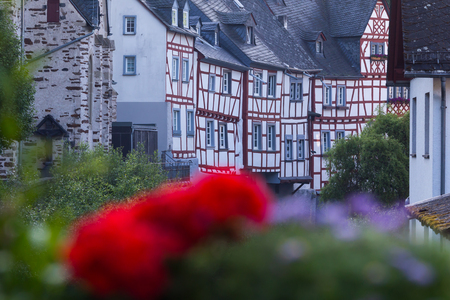 timbering: Old timber frame houses in Monreal, Rhineland-Palatinate, Germany