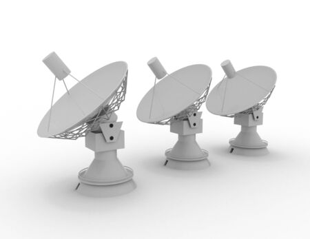 Satellite dish . 3D science concept .3d rendered illustration