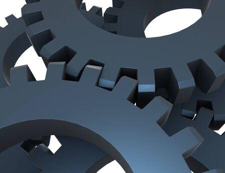 3d abstract gears concept. 3d rendered illustartion Reklamní fotografie