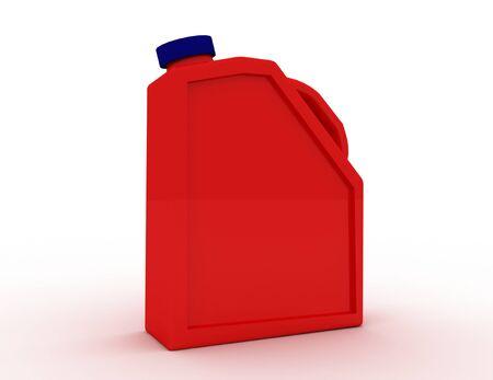 Plastic canister motor oil . 3d rendered illustration Banque d'images