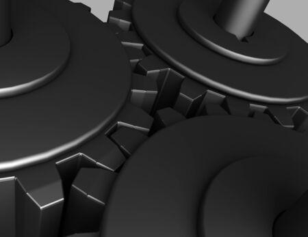 3D Gear.The mechanism . 3d rendered illustration