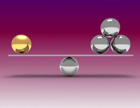 3d balance concept . 3d rendered illustration