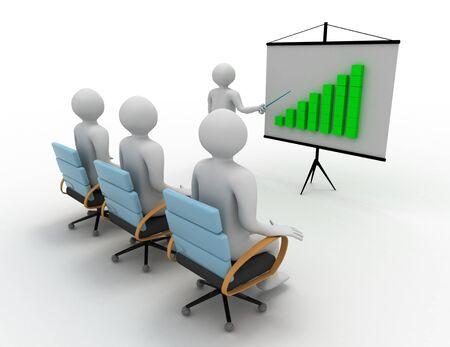 business presentation concept . 3d rendered illustration