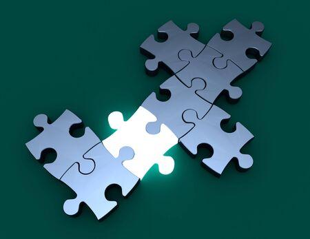 puzzle innovation concept. 3d illustration