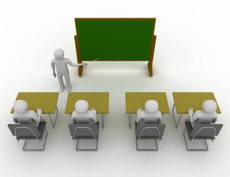3d students in school concept . 3d rendered illustration