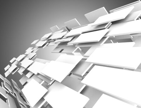 3D abstract background construction. 3d illustration