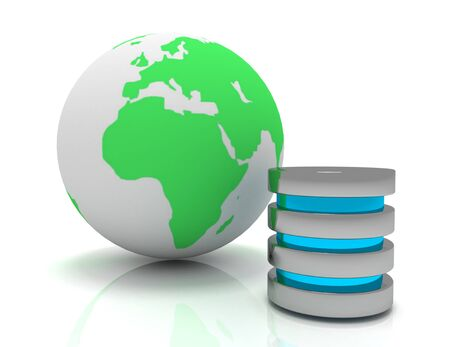 Global communication, web computer networking and telecommunication internet concept:
