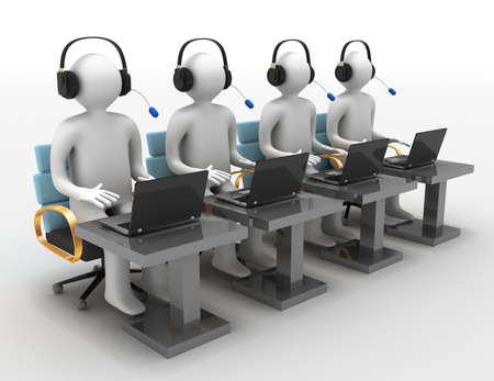 Businessman with a laptop, team work concept