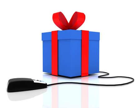 3d online gift concept 版權商用圖片