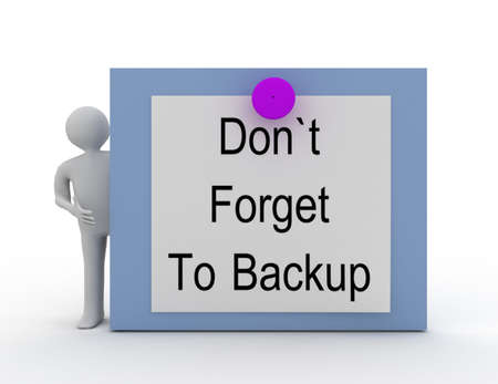Don't forget to backup concept Banque d'images