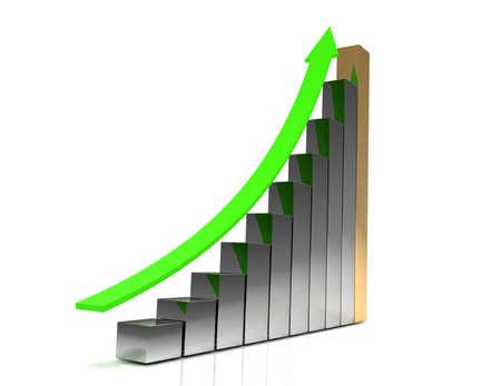 3d business graph concepg Standard-Bild