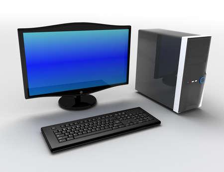 3d desktop pc concept