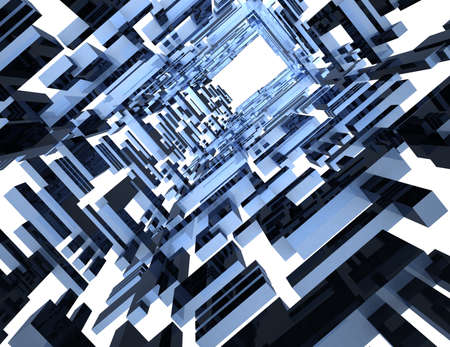 Abstract Architecture Tunnel concept. 3d rendered illustration Imagens