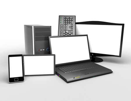 3d electronics concept. concept of electronic sales