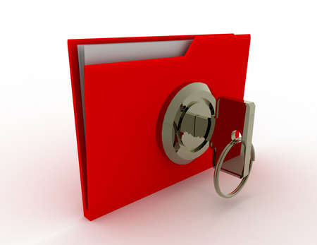 key and folder. data sequrity concept