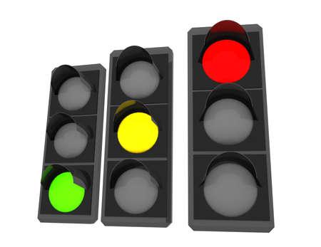 3d traffic light . illustration