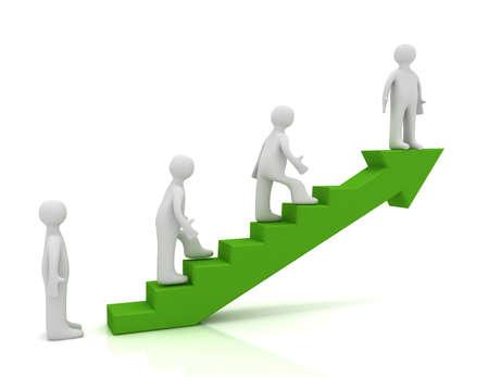 3d ladder to success concept
