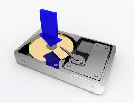 hard disk download concept