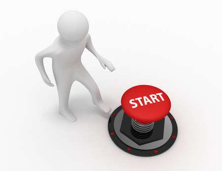 3d man push button start