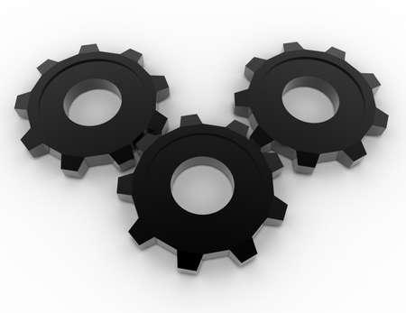 3d gears concept