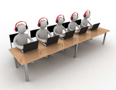 persons work on laptop Foto de archivo
