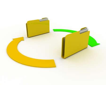 folder concept Reklamní fotografie