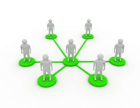 business or socisl network concept