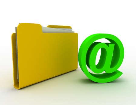 folder email concept