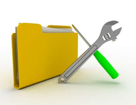 folder tools concept