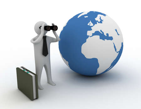 man with binocular 免版税图像 - 157934690
