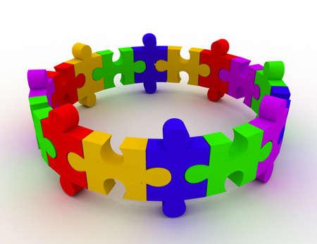 colorful puzzle concept